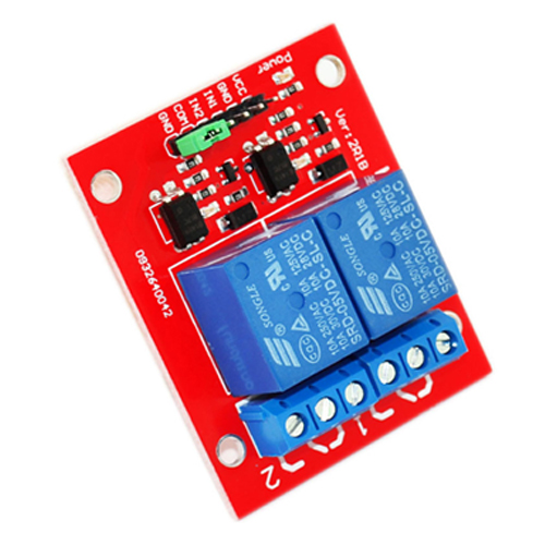 2 channel relay module red