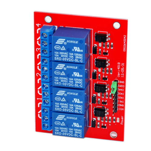 4 channel relay module red