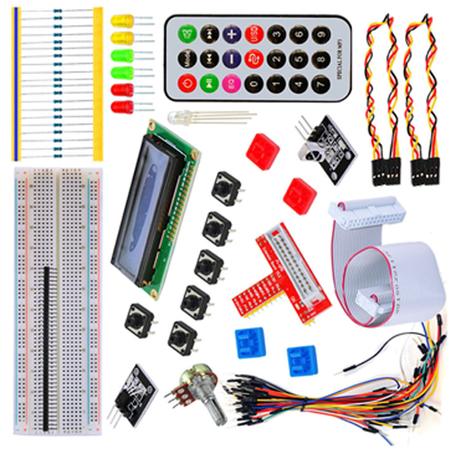 gpio lcd rgb led ir remote starter kit