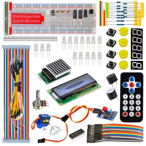 servo lcd breaboard jumper wire starter kit