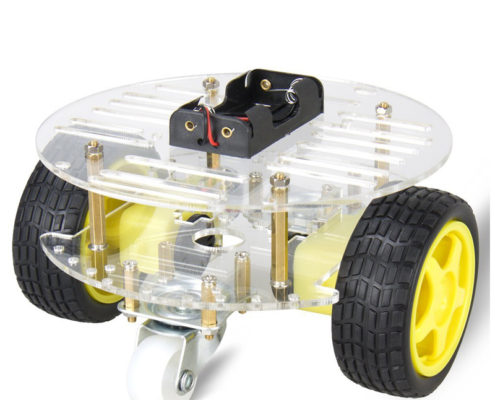 2WD Smart Robot Car Chassis Kit Two Motors Two Universal Wheels Battery Box