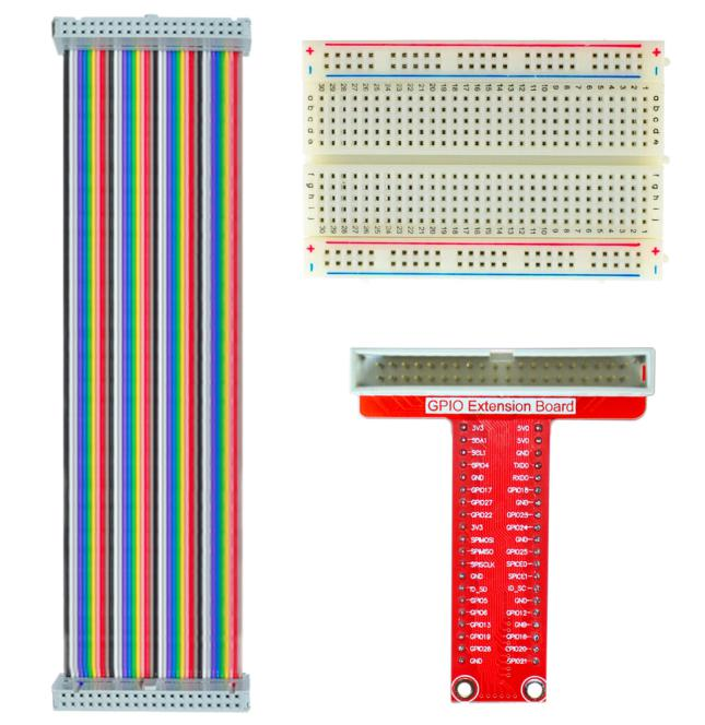 GPIO Extension Board v2.2 Ribbon Cable Breadboard For RPi